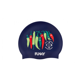 Funky Trunks Silicone Swimming Cap Men, chilli boss